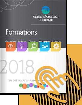 Plaquette Formations URCPIE Union Régionale Occitanie